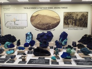 Blue minerals from Bisbee, AZ. From the collection of Richard W. Graeme IV and Douglas L. Graeme (Lynn Varon photo)