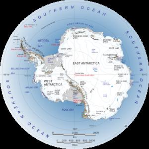 1. Antarctica map