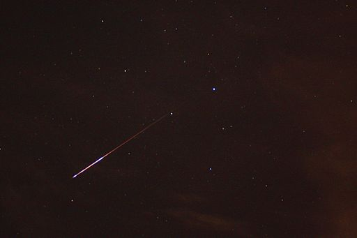 Perseid meteor shower photo