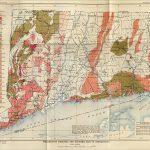 Vintage map of Connecticut