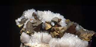 Sharp Chalcopyrite crystals