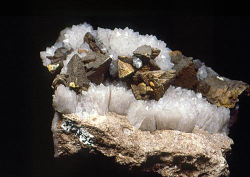 Sharp Chalcopyrite crystals