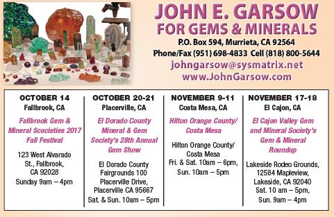 John E. Garsow Gems & Minerals