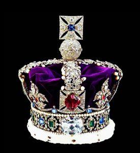 Black Prince Ruby centerpiece