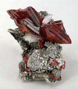 Realgar crystals