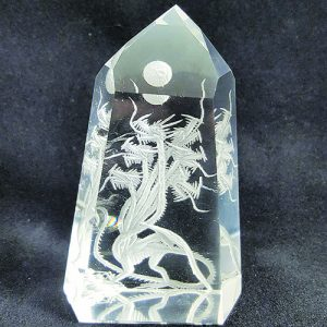 multi-head dragon carving