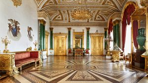 Malachite Room at the Hermitage Museum