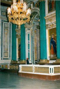 Malachite columns