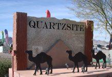 Quartzsite sign