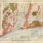 Vintage map of Connecticut