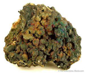 Botryoidal variety of chalcopyrite