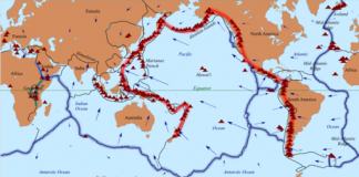 Tectonic plates of the Ring of Fire