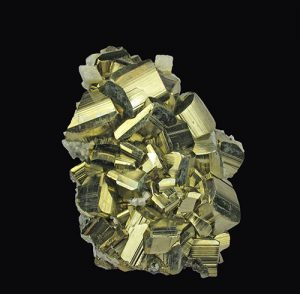Pyrite-with-Calcite