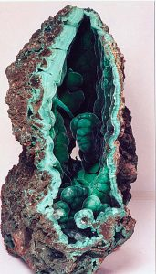 Malachite copper mineral