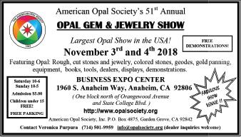 American Opal Society / Opal, Gem & Jewelry Show