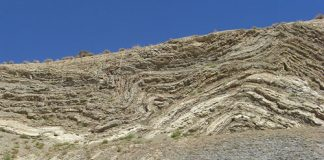 Rock formations near San Andreas Fault