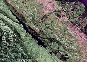 NASA false-color radar photo