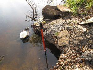 Reaching untouched sediment