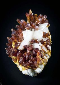 Orpiment crystals