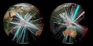 Coverage of earth's core