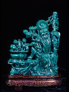 Malachite Chinese carving