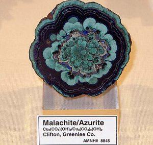 Malachite-azurite slice