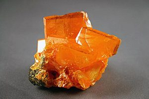Wulfenite crystals