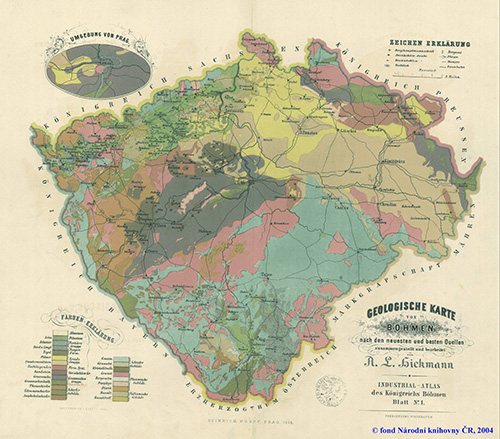 Geological map of Austrian-Hungry
