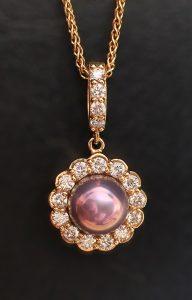 Concho pearl pendant