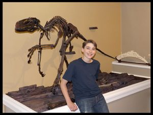 Judah Velociraptor skeleton