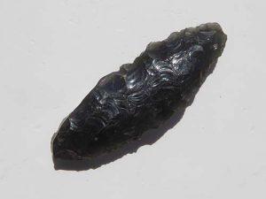 Obsidian arrowhead