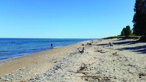 Lake Superior shore daytime