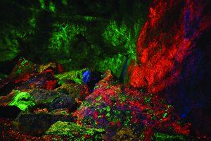 Fluorescing display