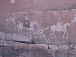 Standing Cow Ruin pictograph