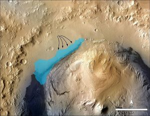 Ancient Lake in Gale Crater on Mars