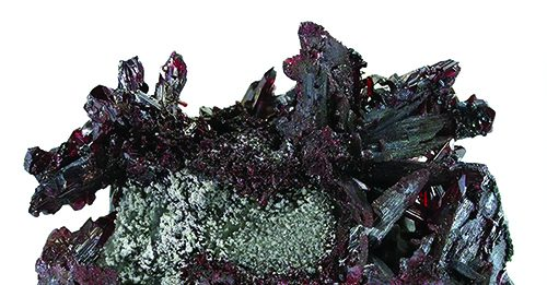 Proustite Chile with Calcite