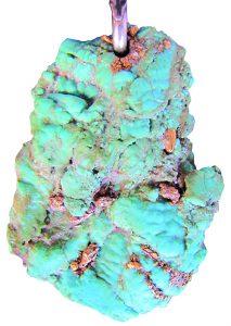 Free-form turquoise pendant