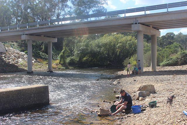 Panning along the Shoalhaven River
