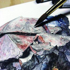 Calcite painting