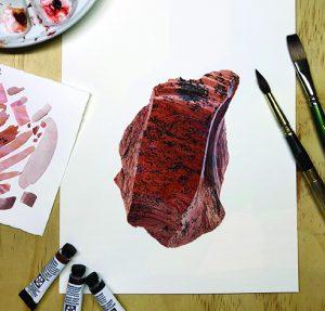 Mahogany obsidian painting
