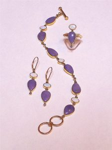 Lavender jewelry set