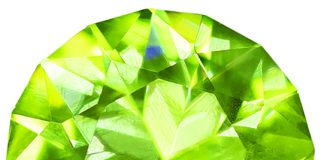 cut brilliant peridot