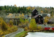Mine buildings in Cobalt, Ontario