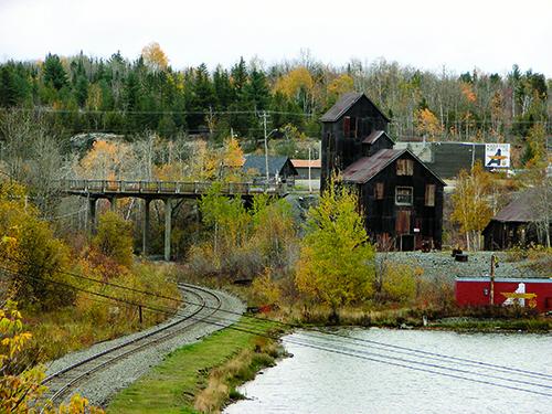 Mine buildings in Cobalt, Ontario