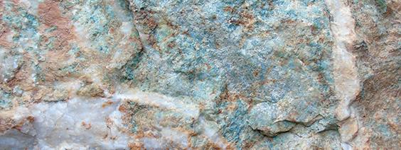Mariposite rock cut