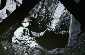 Early mining photo from Cobalt, Ontario