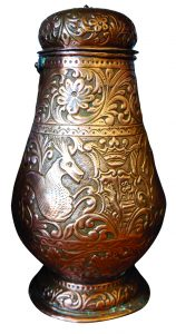 Copper wine pitcher