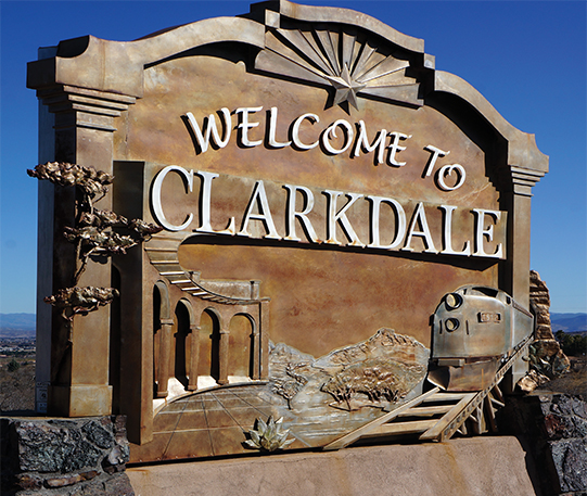 Clarkdale sign