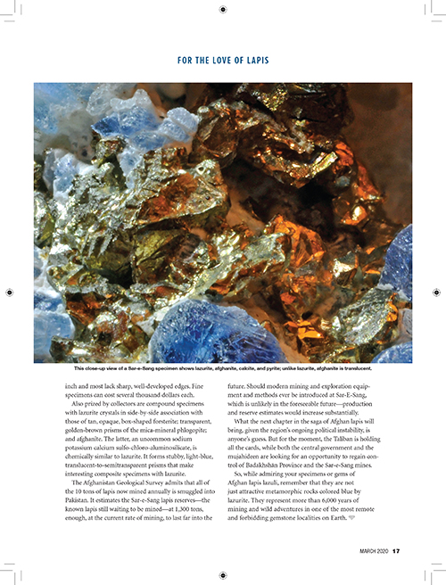 10 17 Lapislazuli 0320 Indd Rock Gem Magazine
