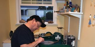 Bill Staggenborg working on Super Maxi Lap